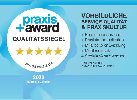 praxis+award: Vorbildliche Service-Qualität und Praxiskultur
